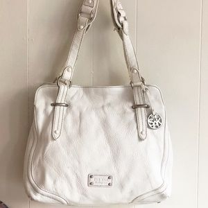The Sack White Leather Shoulders Bag L